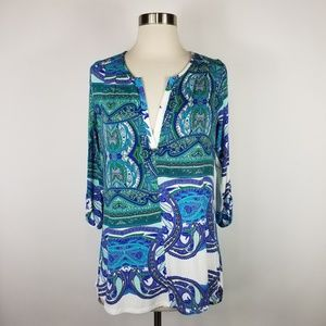 Made in San Francisco Paisley Floral Top